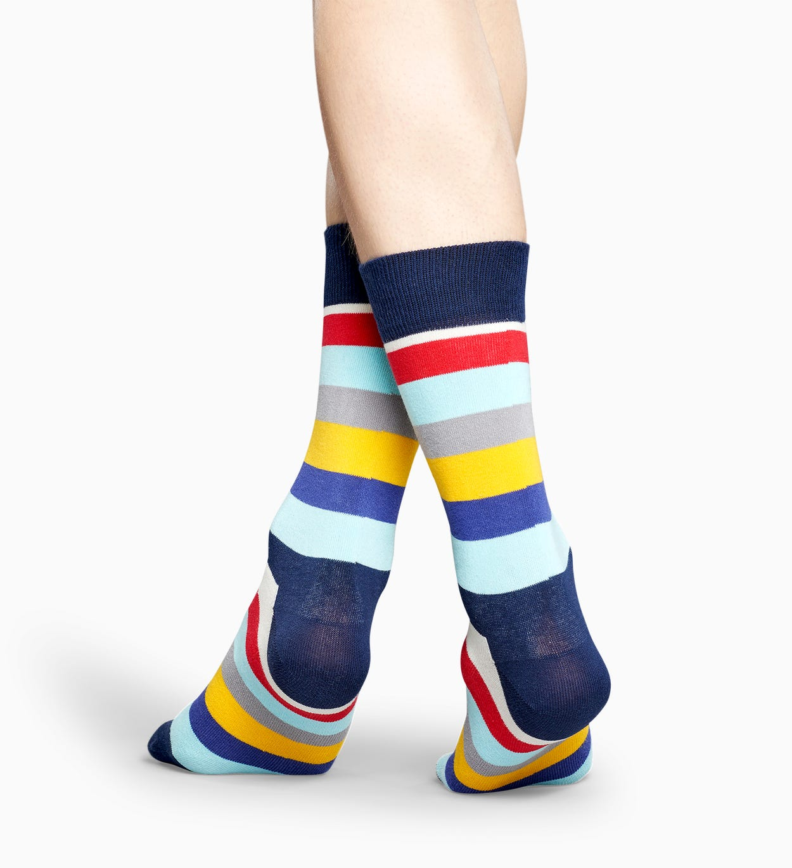 Blaugelbe gestreifte Socken: Stripe | Happy Socks