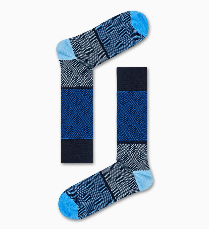 Blaue Anzugsocken: Big Dot - DRESSED   Happy Socks