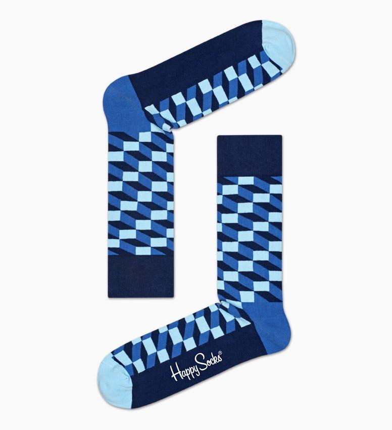 Coole Filled Optic Socks aus gekämmter Baumwolle in Blau!