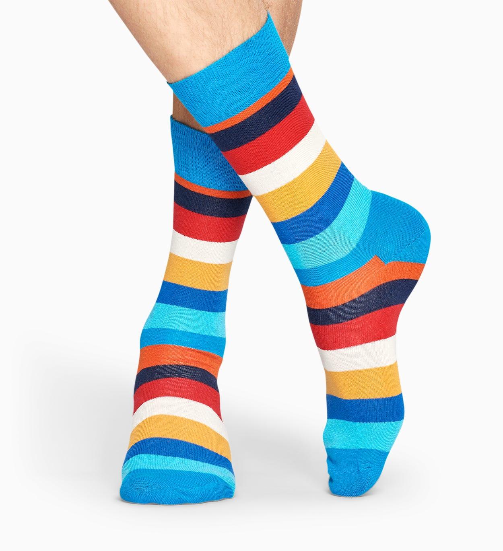 Blue socks: Stripe pattern | Happy Socks