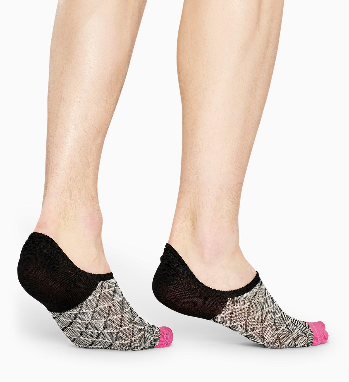 Schwarze niedrige Anzugsocken: Square - DRESSED   Happy Socks