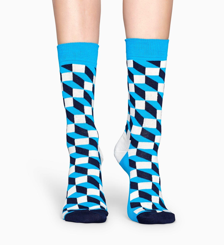 Filled Optic socks - Blue   Happy Socks
