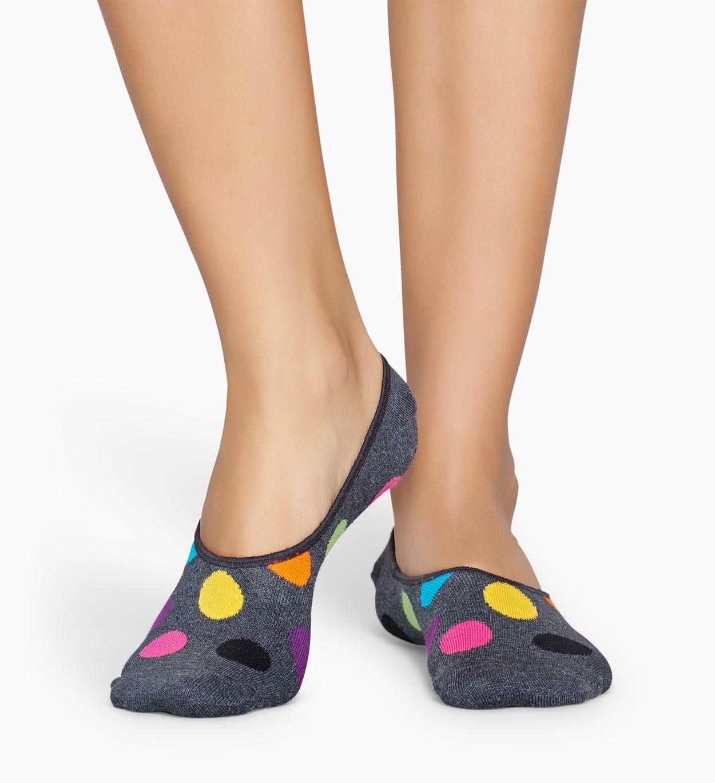 Dunkelgraue Füßlinge: Big Dot | Happy Socks
