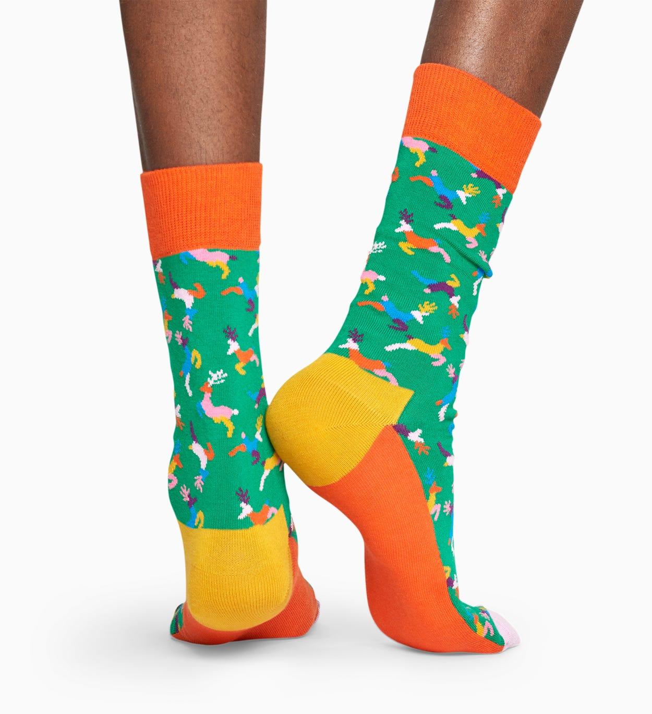 Green socks: Reindeer pattern | Happy Socks