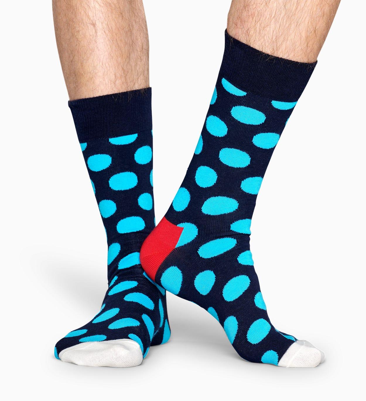 Big Dot柄 - ブルー   Happy Socks