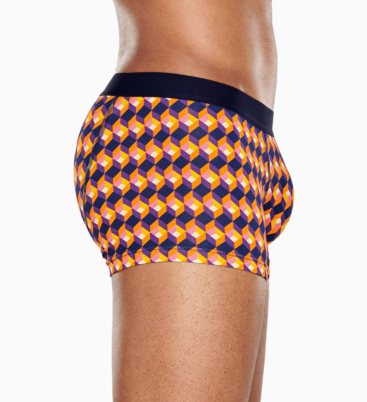 Schwarze Trunk: Optic Square - Herrenunterwäsche   Happy Socks