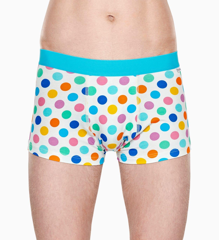 Weißer Trunk: Big Dot - Herrenunterwäsche | Happy Socks