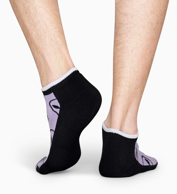 Lilafarbene niedrige Sportsocken: Alien - ATHLETIC | Happy Socks