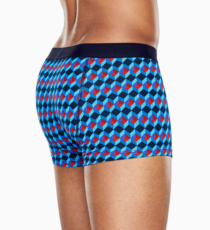 Blauer Trunk: Optic Square - Herrenunterwäsche   Happy Socks