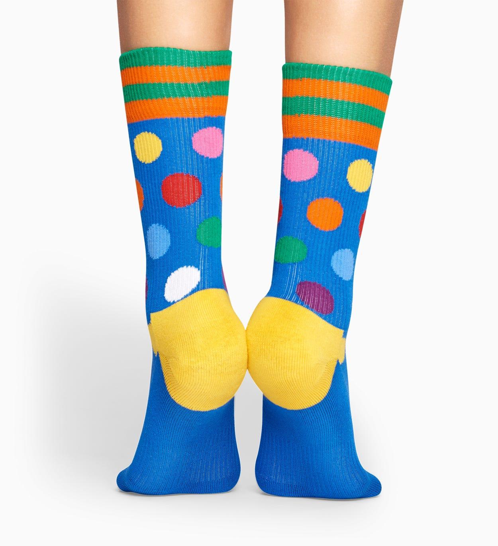 Blue sport socks: Big Dot - ATHLETIC | Happy Socks