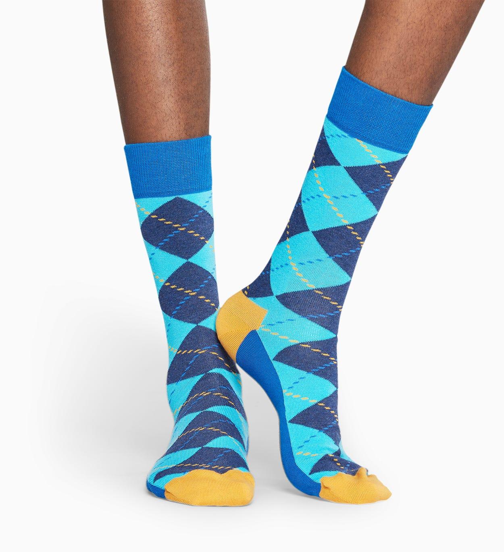 Blue socks: Argyle pattern | Happy Socks