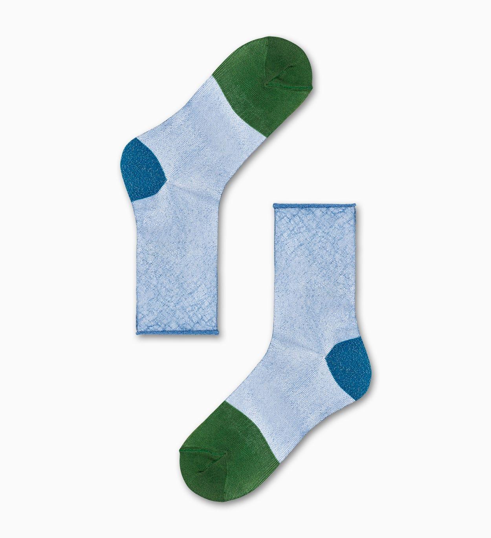 Franca Ankle Socken, Blau - Hysteria   Happy Socks