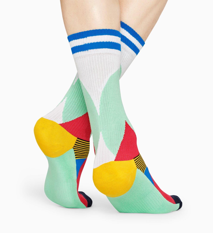 Grüne, rote Socken: Blocked - ATHLETIC   Happy Socks