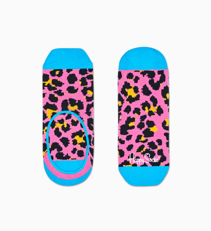Pinke Leoparden Füßlinge: Leopard   Happy Socks