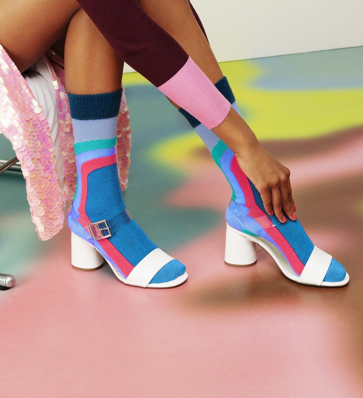 Blaue mittelhohe Socken: Lulu - Hysteria | Happy Socks