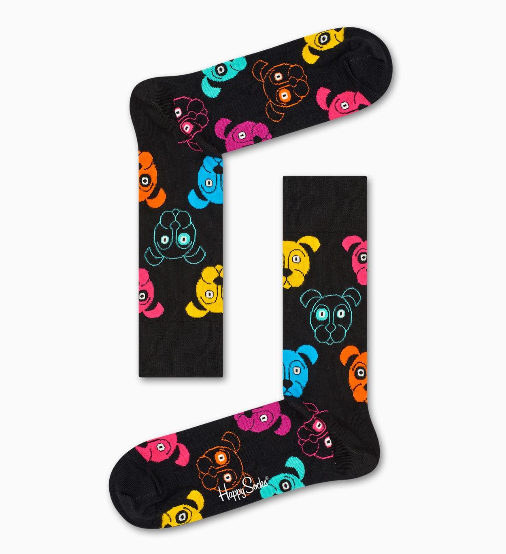 Black socks: Dog pattern   Happy Socks