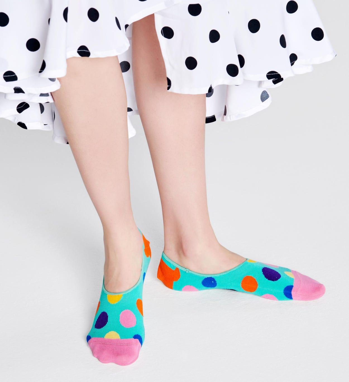 Big Dot Füßlinge, Türkis   Happy Socks