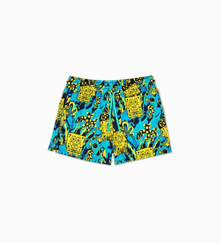 Kids SpongeBob Blue Swim Shorts