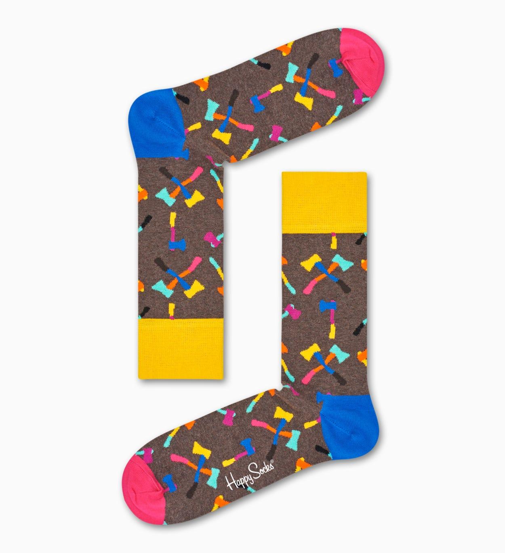 Brown socks: Axe pattern   Happy Socks