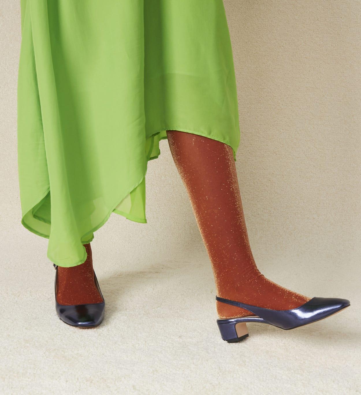 Damen Strumpfhosen: Cori - Orange | Hysteria by Happy Socks