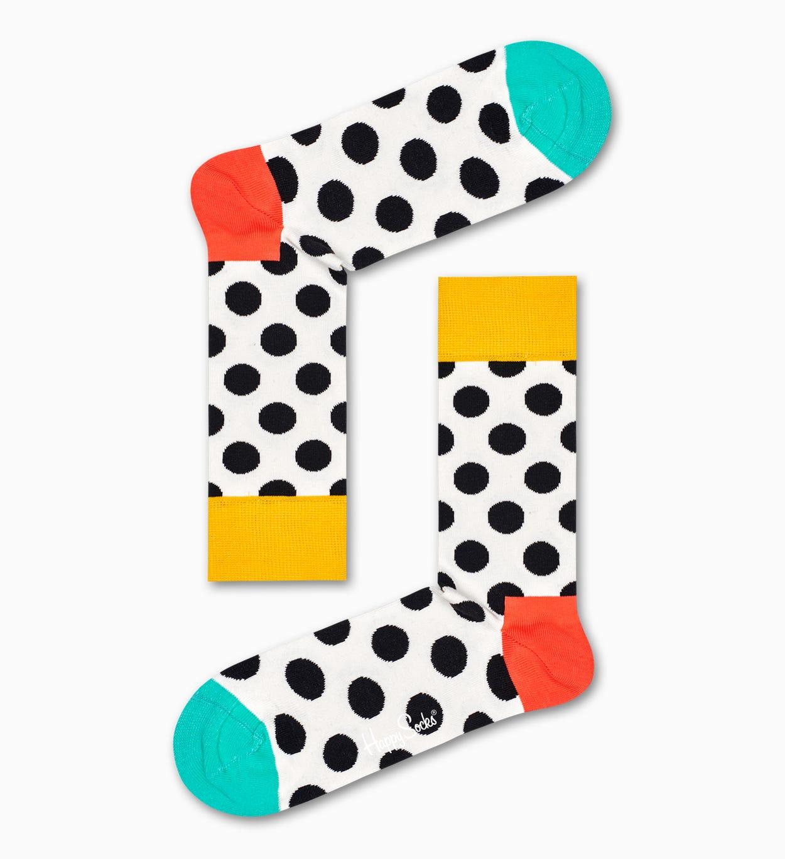 Big Dot Socken, Weiß   Happy Socks