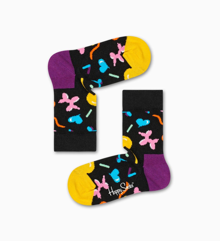 Schwarze Baby-Socken - 2er Pack: Ice Cream | Happy Socks