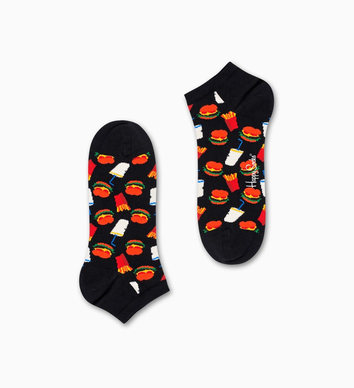 Schwarze Low Socken: Hamburger | Happy Socks
