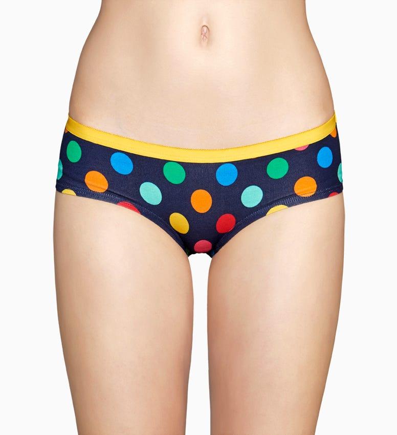 Blaue  Damen Unterwäsche: Big Dot Hipster | Happy Socks