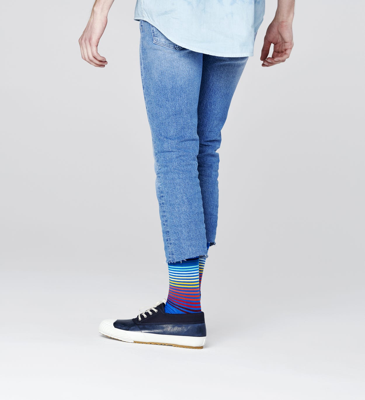 Half Stripe Socken, Blau   Happy Socks