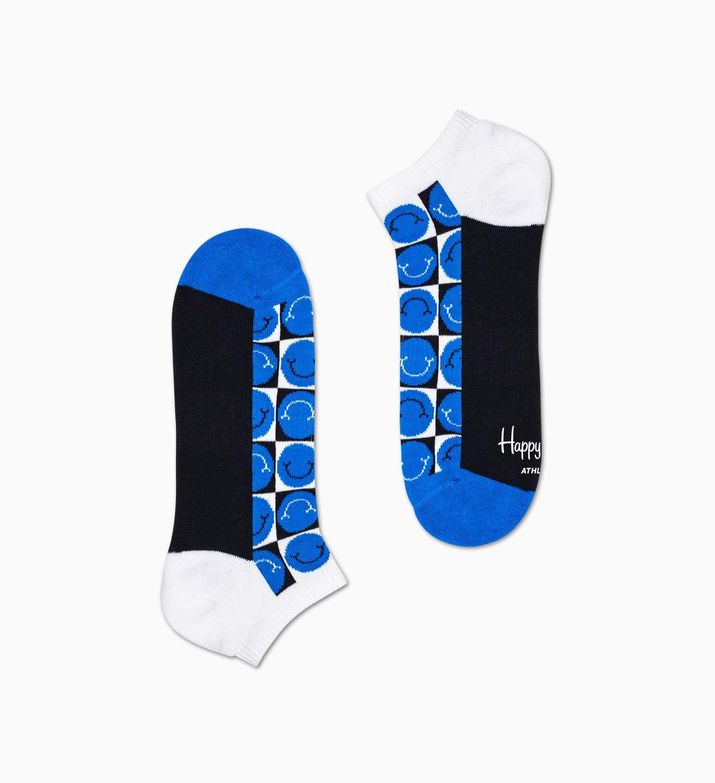 Happy Pique Cuff Socken, Schwarz - ATHLETIC   Happy Socks