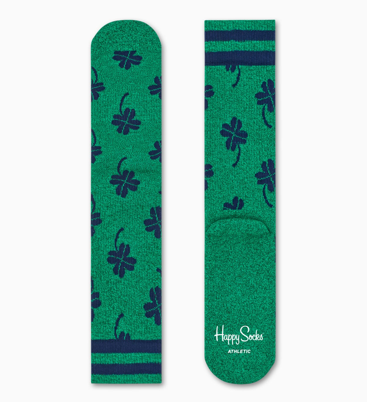 Green sport socks: Big Dot - ATHLETIC   Happy Socks