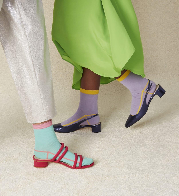 Mintgrüne niedrige Socken: Lily | Hysteria by Happy Socks
