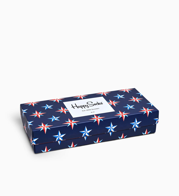 Marineblaue Geschenkbox mit Socken: Nautical   Happy Socks