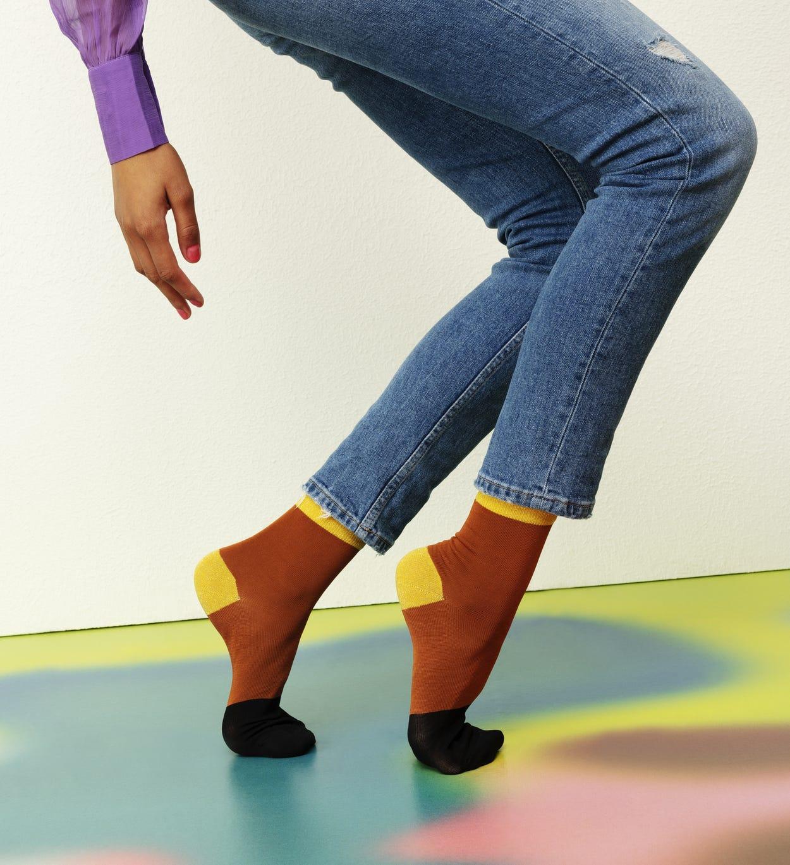 Women's Ankle Socks: Liza - Brown | Hysteria