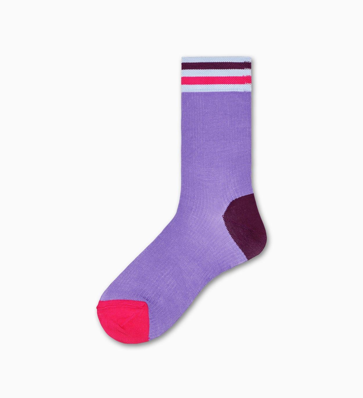 Lilafarbene Ankle Socken: Lona - Hysteria | Happy Socks