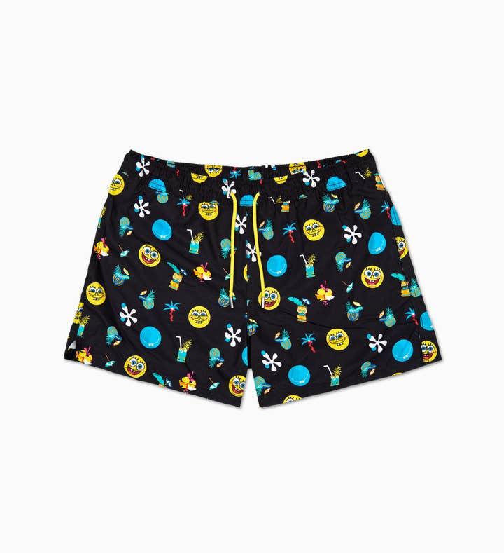 SpongeBob Black Swim Shorts