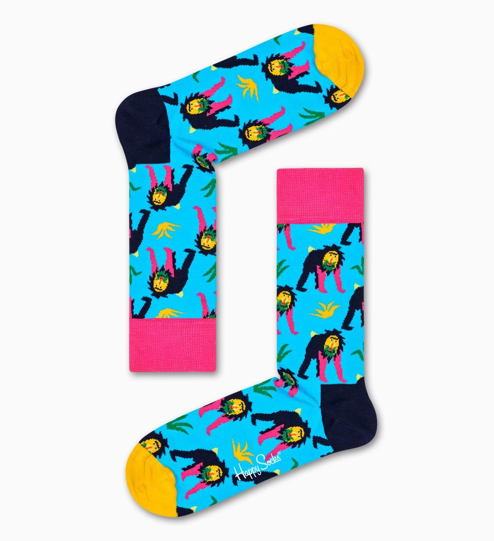 Affen Socken, Blau   Happy Socks