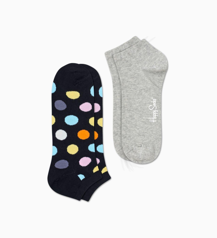 Black   Gray low socks 2pc: Big Dot   Happy Socks