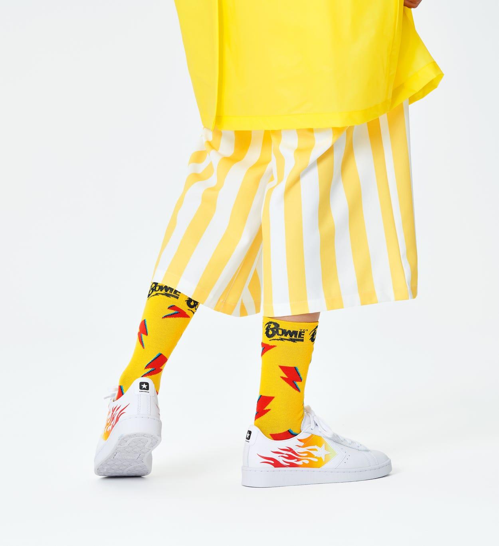 Yellow Flashy Bowie Sock | Happy Socks