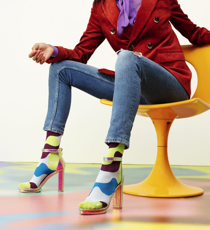 Grüne Ankle Socken: Alice - Hysteria | Happy Socks