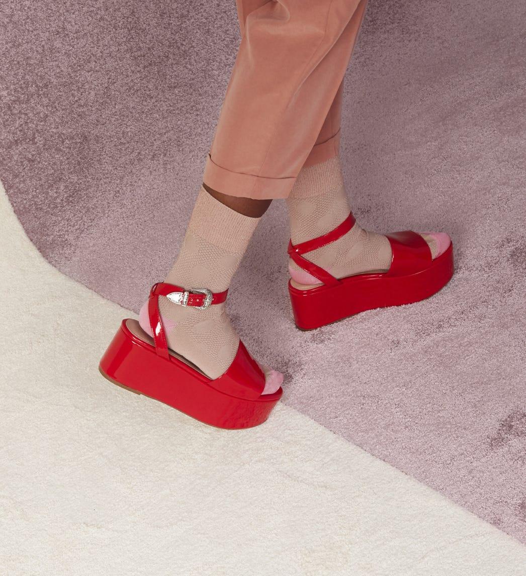 Pinke niedrige Socken: Viktoria   Hysteria by Happy Socks