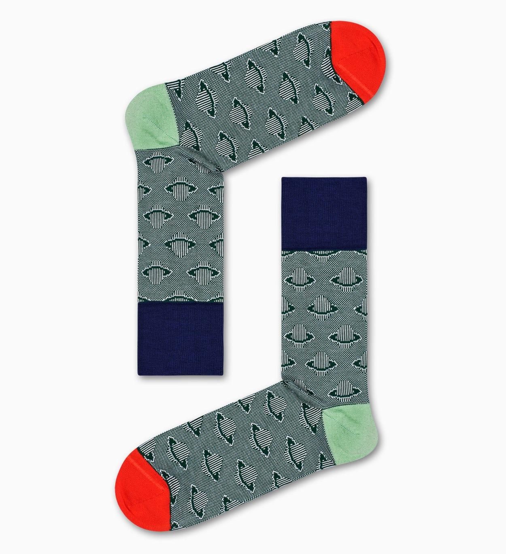 Socken mit Planeten, Grün - Dressed   Happy Socks