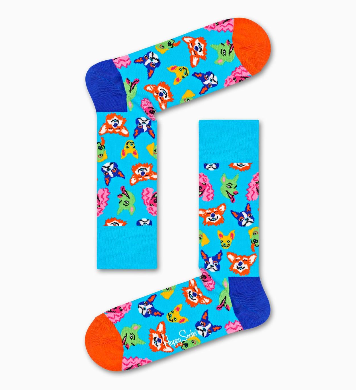 Dog gaveæske, blå | Happy Socks