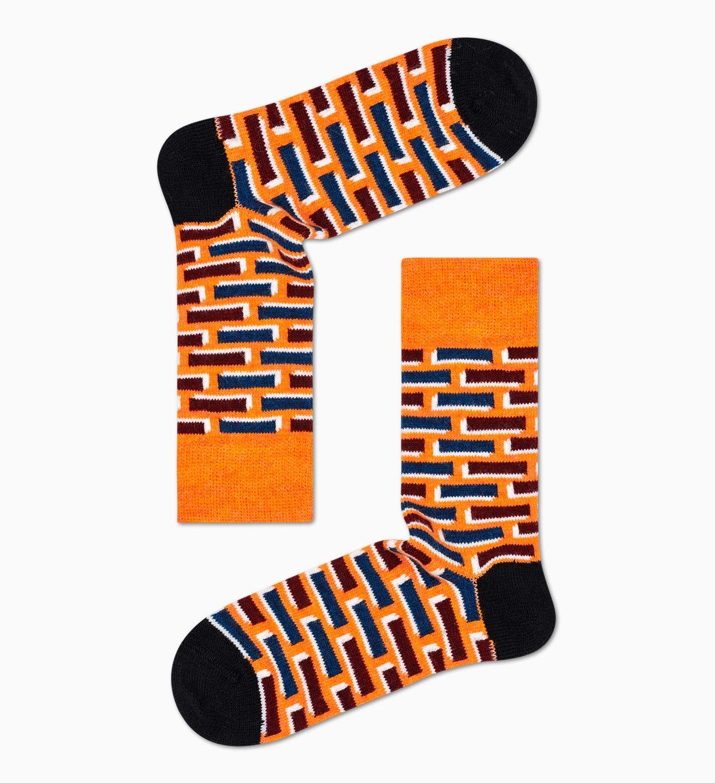 Orange Wollsocken: Ziegel | Happy Socks