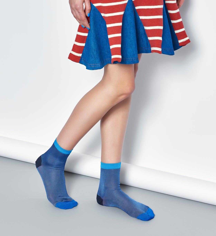 Damen Sneaker Socken: Grace - Blau   Hysteria