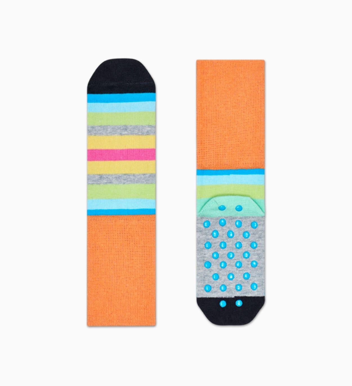 Anti-slip Socken für Kinder 2-Pack: Stripe   Happy Socks