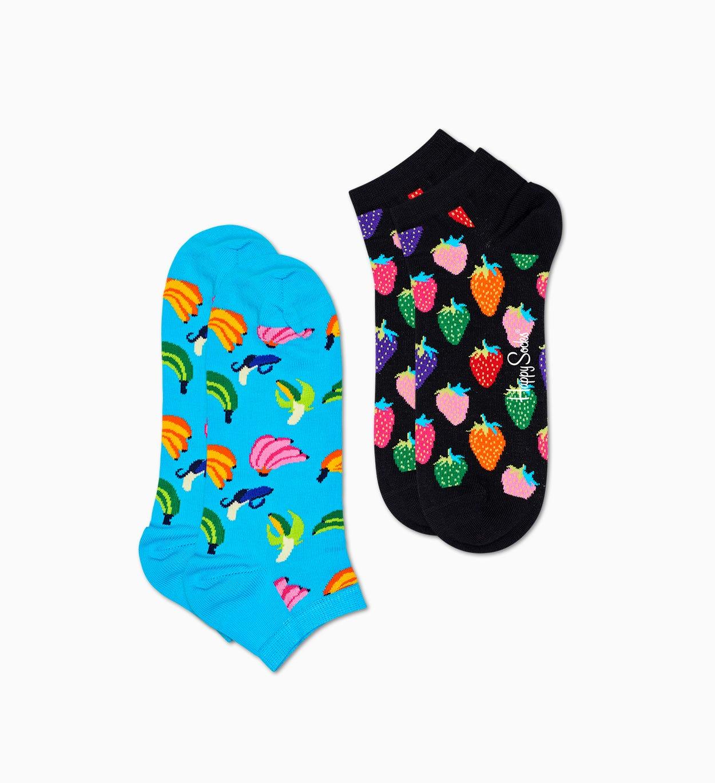 2er-Pack Banana Sneakersocken, Blau | Happy Socks