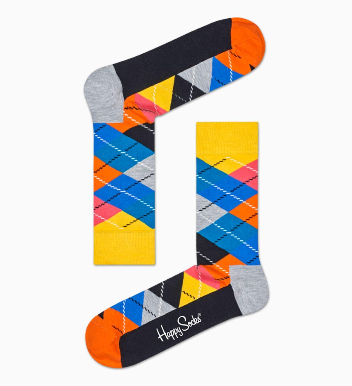 Socken in Gelb   Orange: Argyle | Happy Socks
