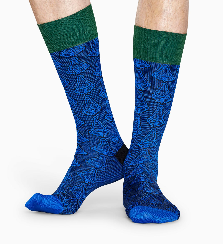 Blaue Anzugsocken: Kunst - Dressed | Happy Socks