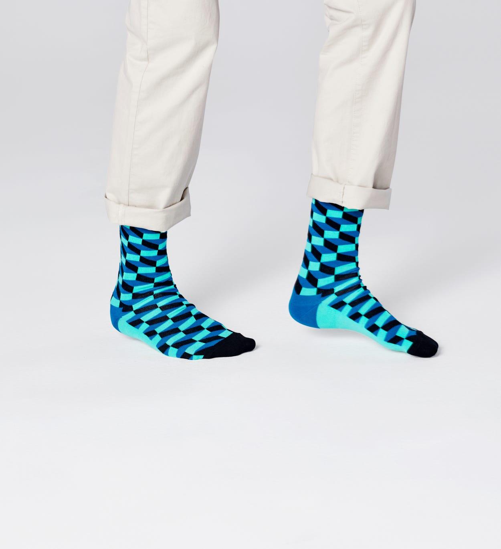 Filled Optic Socken, Blau   Happy Socks